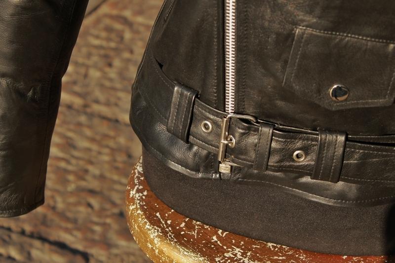 Giubbotto giacca chiodo donna in vera pelle metal
