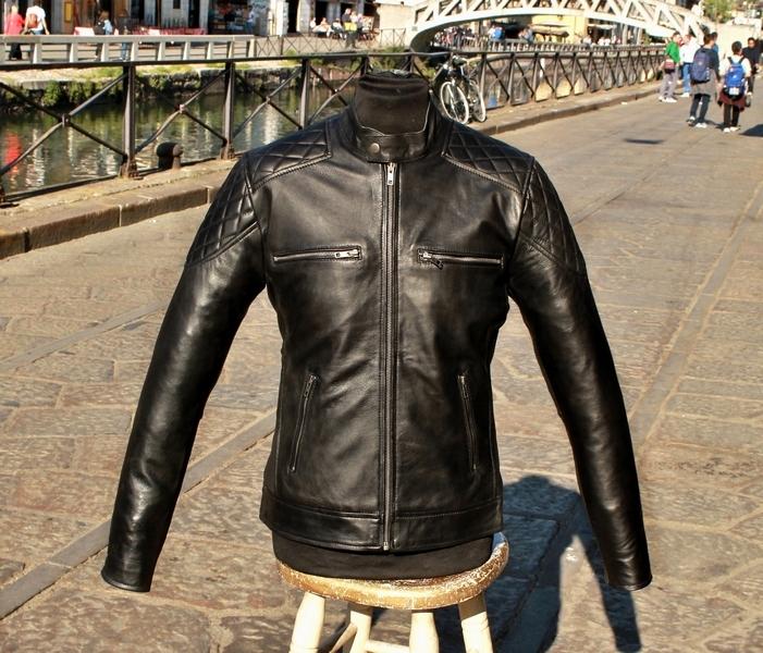 Giubbotto pelle nero modello Belstaff moto nostra