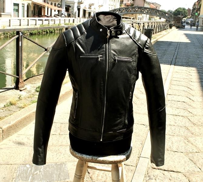 Giubbotto giacca chiodo moto caferacer Guendj bike