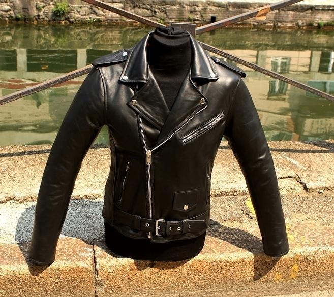 Giubbotto giacca chiodo in vera pelle stile schott